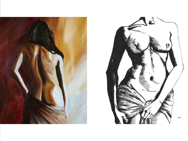 Sketching and Painting the Female Nude